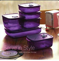 Love this Tupperware! Purple Home, Shades Of Purple, Deep Purple, Purple Kitchen Accessories, Purple Kitchen Decor, All Things Purple, Purple Stuff, Tupperware Consultant, My Favorite Color