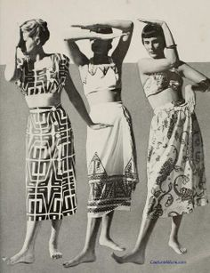 it's the joseph zukin dress/ensemble on the left that's really stunning. also ballerino (center) and horgan (right)