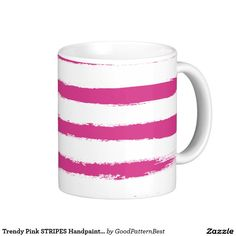 Sip from one of our many Trendy coffee mugs, travel mugs and tea cups offered on Zazzle.