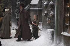 Valjean (Hugh Jackman) and young Cosette (Isabelle Allen), Les Miserables movie