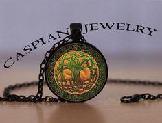 Celtic Irish Tree of Life Black Fashion Pendant Necklace Top quality #Handmade #Pendant