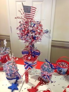 Red, white and blue party decor #redwhiteblue #party