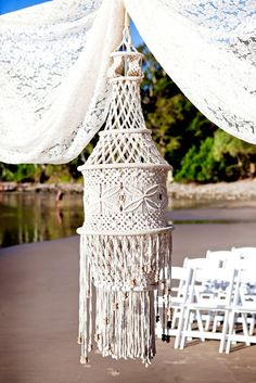 Vintage Beach Wedding Ceremony