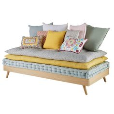 Daybed holz  Grey Pine Scandinavian Daybed 90 x 190 | Banquettes, Wooden daybed ...