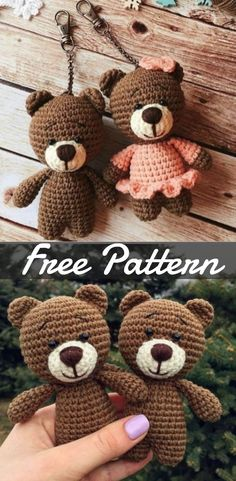 Tiny Teddy Bear Keychain Amigurumi Free Crochet Pattern – Free Toy Softies Crochet Patterns Source by howtomakesAre you on the hunt for a Tiny Teddy Crochet Pattern? our collection is filled with the cutest ideas plus loads of free patterns. Crochet Gratis, Crochet Bear, Crochet Patterns Amigurumi, Crochet Dolls, Crochet Teddy Bear Pattern Free, Free Pattern, Easter Crochet, Pattern Ideas, Crochet Animal Patterns