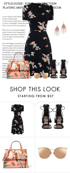 """Farfalle"" by pinkmode ❤ liked on Polyvore featuring Zimmermann, Gucci, Linda Farrow and Serefina"