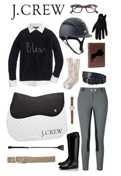 """J. Crew Equestrian"" by equine-couture ❤ liked on Polyvore featuring J.Crew, Tory Burch and Vince"