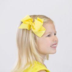 """Harper- 4.5"""" Bow Clip, Girls Hair Bows, Girl's Bows"""
