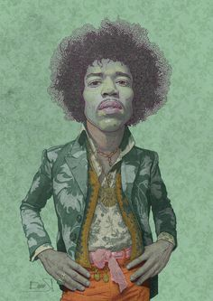 The Legendary Jimi Hendrix on Behance