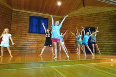 Campers during their Dance Activity at WeHaKee Camp for Girls in Winter, WI.