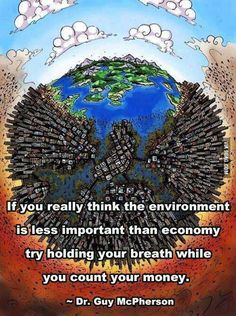 If you really think the environment is less important than economy …. Guy McPherson motivational inspirational love life quotes saying. Save Planet Earth, Save Our Earth, Our Planet, Save The Planet, Our Environment, Environment Quotes, Sustainable Environment, Sustainable Living, Environmental Issues