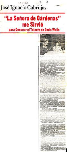 Cabrujas habla sobre Doris Wells. Publicado el 25 de septiembre de 1977.