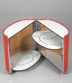 Eugenio Gerli; Mobile Bar for Tecno, 1966.