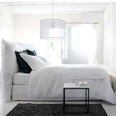 Housse de tête de lit lin lavé, Pam