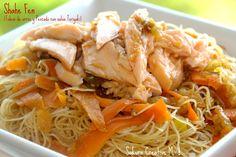 Shahe Fen (Fideos de arroz y Pescado con salsa Teriyaki) - Chinesse Food