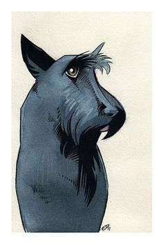 This simple illustration really captures the spirit of the scottie.