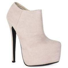 ❄❄Winter White❄❄  71K Womens Platform Stiletto High Heel Ladies Evening Ankle Shoes Boots