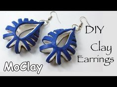You Tube Tutorial Free   - easy cut earrings ~ Polymer Clay Tutorials