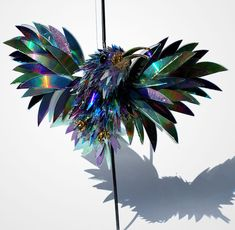 Shattered CD sculptures...how do you even?!