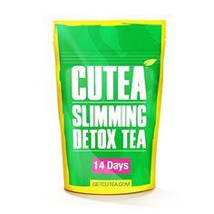 CUTEA Natural Weight Loss Detox Tea 14 Tea Bags: Reduce Bloating Promote Fat Loss Control Appetite & Detoxify the Body - Antioxidant-Rich 100% Natural Tea