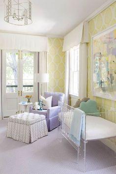 Collins Interiors // nursery with a crib! Baby Room Decor, Nursery Room, Girl Nursery, Girls Bedroom, Chic Nursery, Room Baby, Nautical Nursery, Baby Rooms, Pastel Nursery