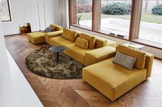 sofa designed by Dick Spierenburg Luxury Sofa, Interior Design, Luxury Homes Interior, Luxury Home Decor, Bedroom Design, Yellow Curtains Living Room, Modular Couch, Sofa Design, Luxury Living Room Design