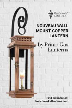 Your home's exterior is the first thing any guest sees when visiting. Make a lasting impression with an ornate light fixture that illuminates the rest of your home. Shop our entire collection of copper lanterns at French Market Lantern's. Modern Lanterns, Gas Lanterns, Hanging Lanterns, Lighting Ideas, Outdoor Lighting, Copper Lantern, Gas Lights, Gas And Electric, Light Fixture