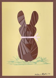 Iris folding chocolate rabbit
