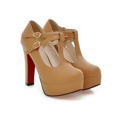 women fashion - Ladies Shoes - Pumps - Sweet Apricot Solid PU Pumps - 877661-3412 -  Asia Asian Fashion Wholesale