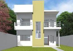 Versão do Projeto Cód. 93 com Fachada Quadrada COD 129 - Este novo modelo de casa possui linhas contemporâneas, com poucas paredes internas, facilitando a integração dos ambientes o que a torna portanto uma casa sempre bem iluminada e arejada.