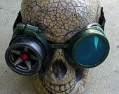 Steampunk Goggles Glasses  lenses loops cyber---RARE-----Time Travel Crazy Scientist's Oculo-Vision Tool---biker motorcycle. $44.99, via Etsy.