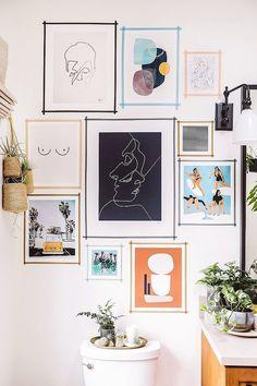 Diy wall decor 443956475772067016 - DIY Washi Tape Gallery Wall – Honestly WTF Source by arowing Diy Wand, Living Room Decor, Bedroom Decor, Wall Art Bedroom, Gold Bedroom, Bedroom Ideas, Decor Room, Dining Room, Bedroom Wallpaper