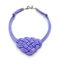 In the case of this statement necklace, the bigger the knot, the better! Photo courtesy of ElfinaDesign on Etsy.