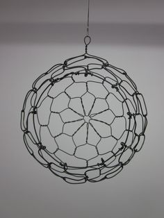 Wire Hanging Sphere Basket - empty. Use as tutorial for making my own...