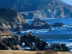 Bixby Bridge, Big Sur, California -- Love this! This is near where I live, I visit as often as I can :-)
