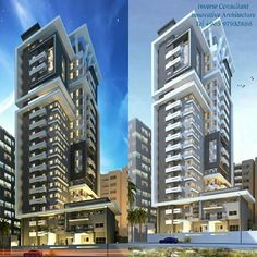 Mix Use Building, Building Concept, High Rise Building, Building Design, Colourful Buildings, Modern Buildings, Beautiful Buildings, Futuristic Architecture, Facade Architecture