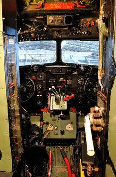 Douglas DC3 Dakota IV Cockpit by Jez B, via Flickr