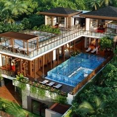 Wonderful Picture of Tropical Home Design Ideas. Tropical Home Design Ideas Luxurious Tropical House With A Pool In Na Model Tropical Style Tropical House Design, Tropical Houses, Modern House Design, Tropical Style, Tropical Paradise, Millionaire Homes, Villa Design, Sims House, Home Fashion