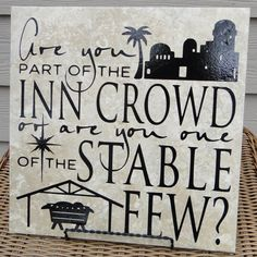 Nativity/Manger Are you part of the inn crowd by StrongsSparkles