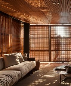 Exterior Design, Home Interior Design, Interior Architecture, Interior And Exterior, Design Interiors, Casas Containers, Wooden Screen, Interior Minimalista, Screen Design