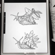 "61 Likes, 7 Comments - Max V.K. (@maxvktattoos) on Instagram: ""2 more snails because everyone wanted the snail. Dm me if you want to get tattooed this weekend at…"""