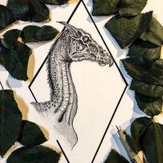 Thestral- Skeletal Winged Horse Wall Art Print - Each Pretty Tattoos, Cute Tattoos, Small Tattoos, Tattoo Flash Art, Thestral Tattoo, Tribal Wolf Tattoo, Nerdy Tattoos, Diy Tattoo Permanent, Geometric Nature