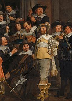 ❦ Bartholomeus van der Helst (1613–1670), The company of Captain Roelof Bicker and Lieutenant Jan Michielsz Blaeuw (detail), 1639