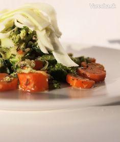 Zoodle (cuketové špagety) - recept   Varecha.sk Lchf, Veggies, Vegetable Recipes, Vegetables