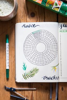 Bullet Journal Setup: June - tea & twigs