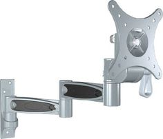"Pyle Home PSWLB371 Articulating Wall Mount for 10 to 24 Inches Displays (Silver) by Pyle. $34.66. This universal dual arm swivel mount gives you total flexibility over your TV's placement. It fits virtually any TV from 10"" to 24 Inch– great for a smaller TV in a children's room or kitchen. Universal brackets easily hook your TV up to the wall plate. Adjustable pivot points provide tension control. This mount has been pre-assembled for quick installation. Max capac..."