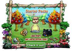 Caveman Club: Starter Packs  Sono disponibili nel Market3 Starter Packs nella Caveman Club Farm!Sono pacchicomposti da differenti quantitativi di aiuti direttamente proporzionali al costo.  Prehistoric Starter Pack (25 FV Cash)  100 Cave Points  2 Boulder  2 Caveman Clubs  2 Jungle Vine  4 Caveman Cudgel  4 Stone Chisel  1 Vortex Tree    Stone Age Starter Pack (45 FV Cash)  200 Cave Points  3 Boulder  3 Caveman Clubs  3 Jungle Vine  8 Caveman Cudgel  8 Stone Chisel  1 Vortex Tree  1 Mini…