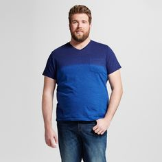 Men's Big & Tall V-Neck Large Stripe T-Shirt with Pocket - Mossimo Supply Co.