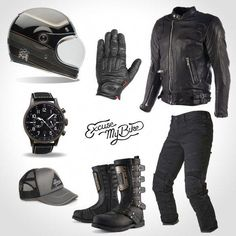 total look cafe racer excuse my bike - Bikelife - Motos Cafe Racer Tv, Cafe Racer Jacket, Cafe Racer Helmet, Cafe Racer Style, Moto Cafe, Cafe Racer Build, Cafe Racer Motorcycle, Motorcycle Style, Bike Style