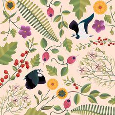 Birds & Fauna pattern on Behance